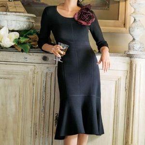 Soft Surroundings Raffinato Peplum Dress